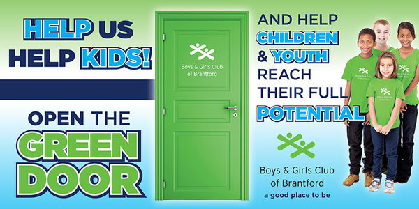 Boys Girls Green Door Postcard Side1